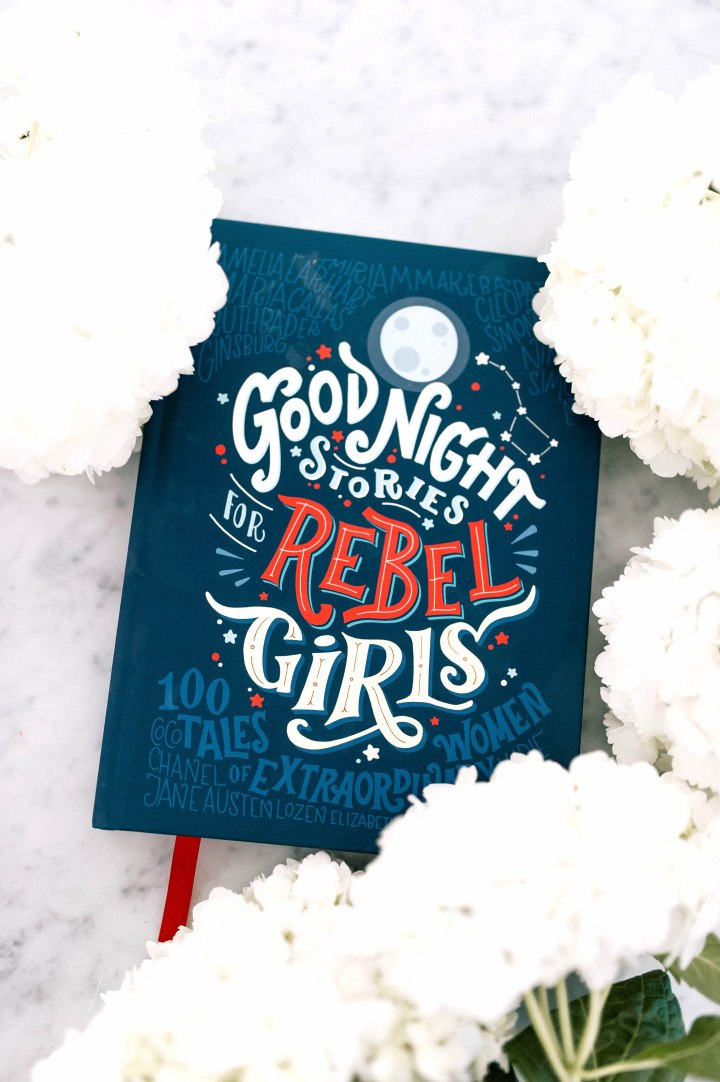 Eva Amurri Martino shares the Goodnight Book For Rebel Girls as part of her monthly obessions post