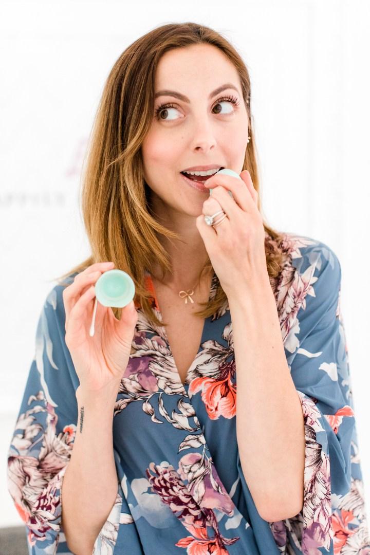 Eva Amurri Martino applies lip balm to her lips