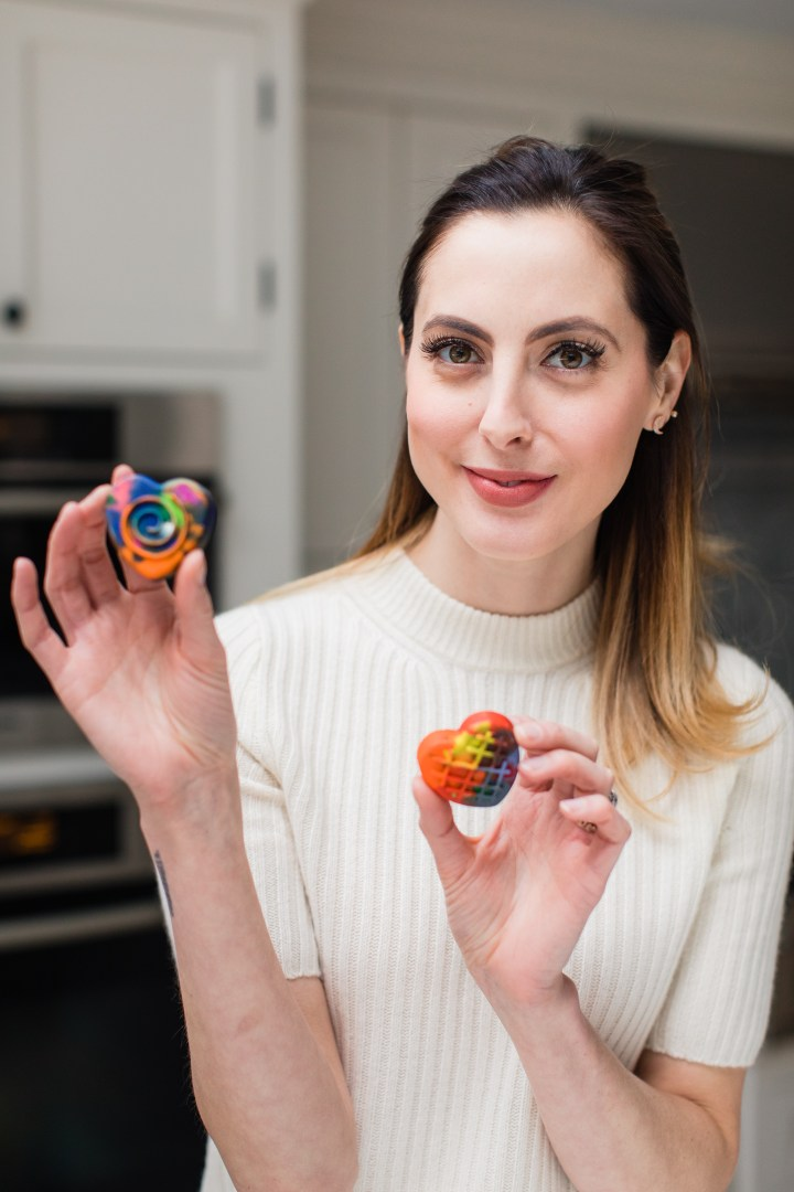 Eva Amurri Martino shows off her crayon hearts craft for Valentine's Day