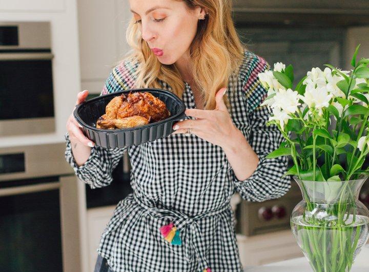 Eva Amurri Martino shares her tips for an easy rotisserie chicken dinner
