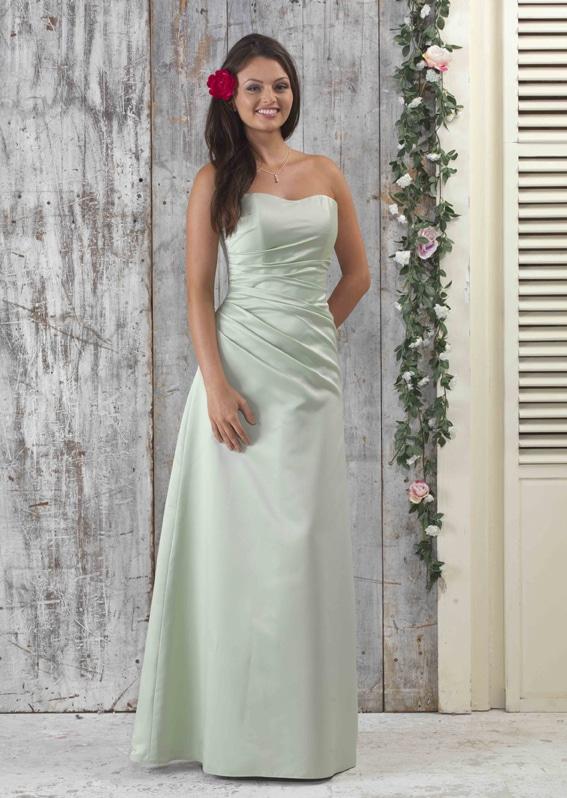 EN040 Strapless Satin Bridesmaid Dress_72px