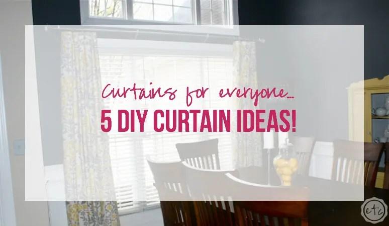 5 diy curtain ideas
