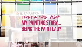 Working With Paint My Painting Story Being The Lady