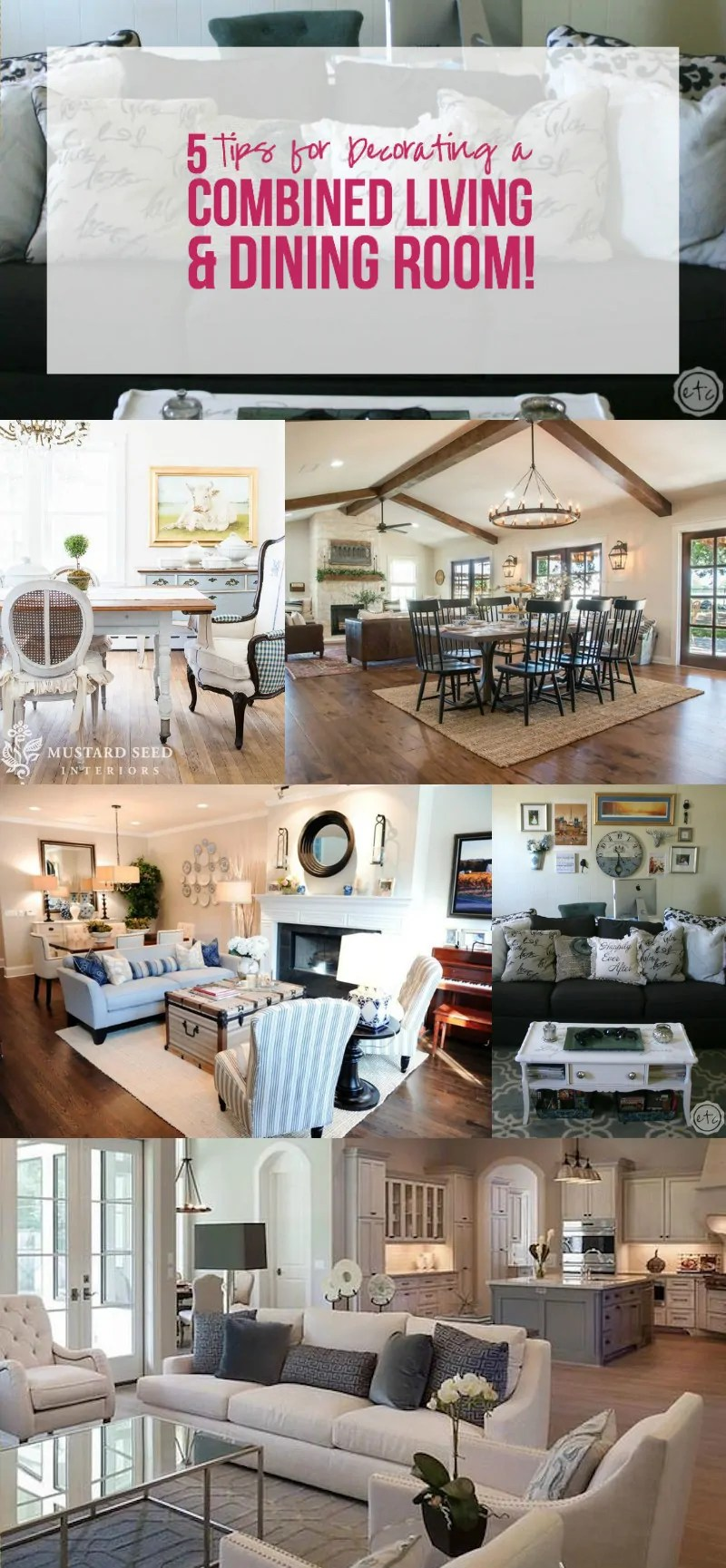 5 Tips For Decorating A Combined Living Dining Room Happily Ever After Etc