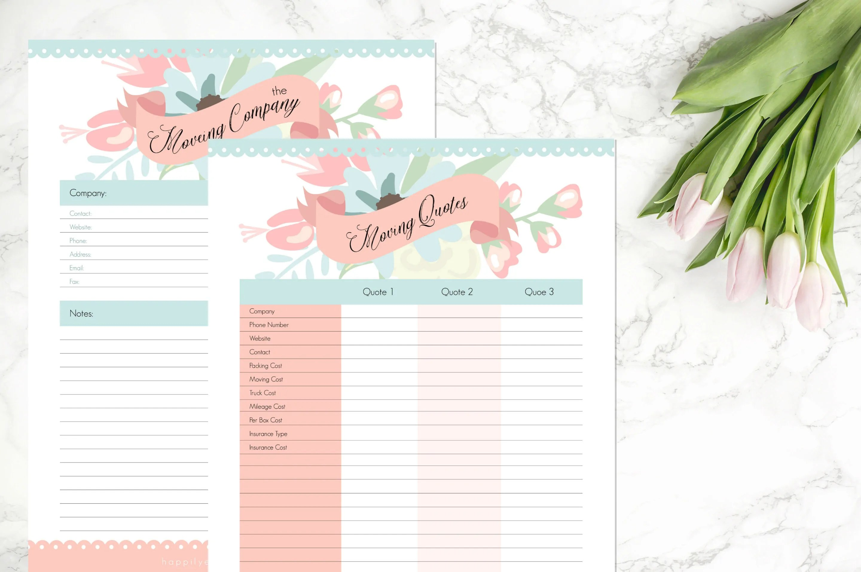 Moving Planner 21 Printables Amp 31 Coordinating Sticker Sheets
