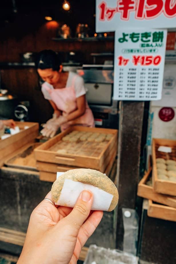 Cheap mochi in Japan