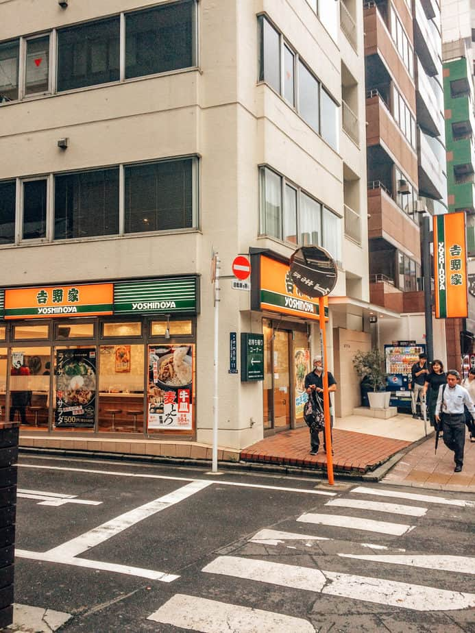Yoshinoya cheap restaurant in Japan
