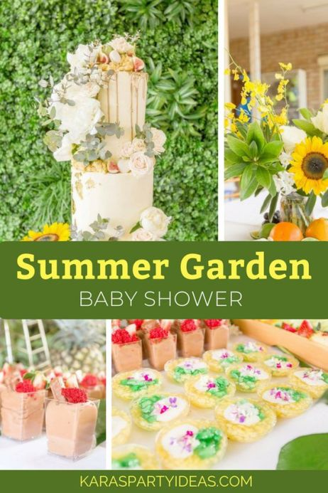 Summer Garden Baby shower theme