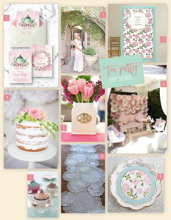 Tea Party Baby shower theme