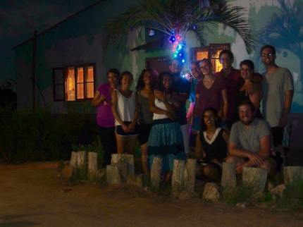 Our PCV fam after everyone hung a paper ornament on the tree and shared a Christmas memory or tradition with the group.