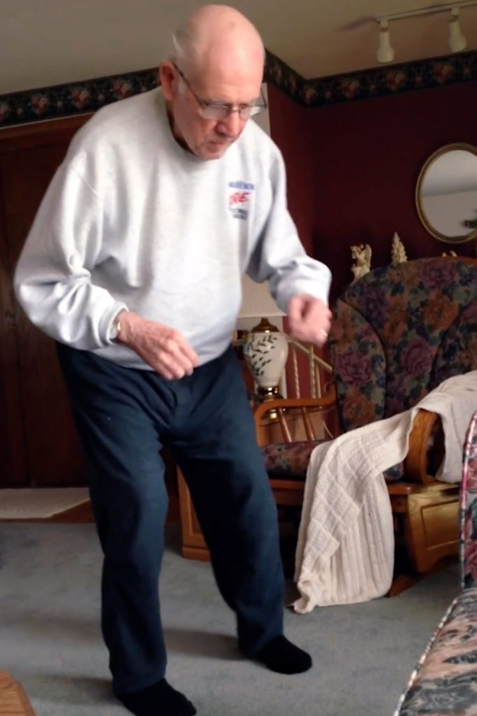 Alzheimers suffer dances to music