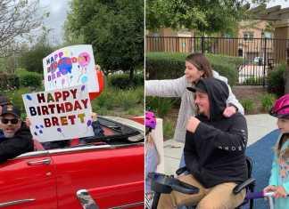 huge birthday parade
