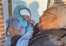 grandmother meets great grandson