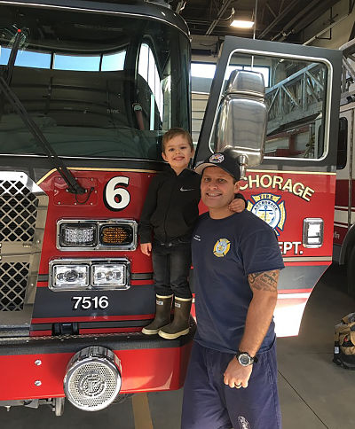 Five-year-old Follows In Firefighter Dad's Footsteps By Running Mini Fire Drills In Their Yard As Part Of Homeschooling Project