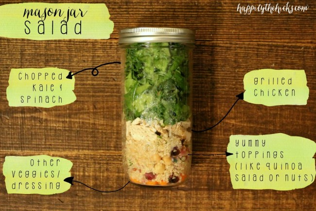 Mason Jar Salad ingredients