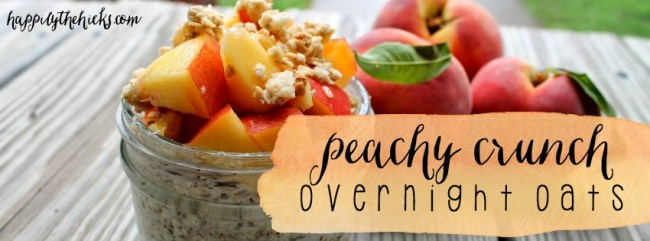 Peachy Crunch Overnight Oats