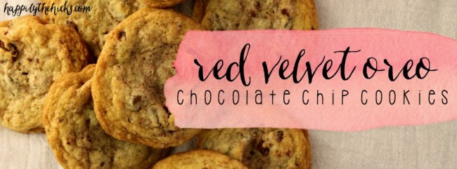 red velvet oreo chocolate chip cookies