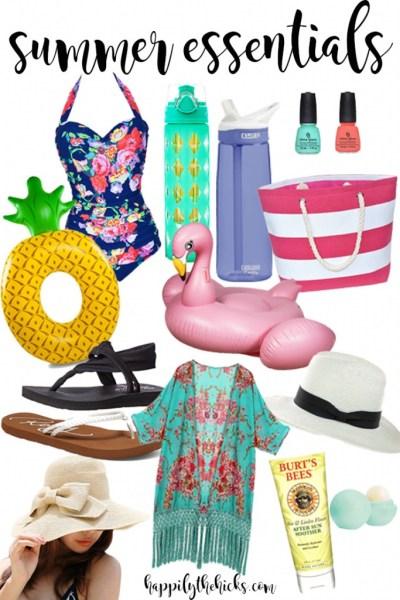 Summer Essentials | read more at happilythehicks.com