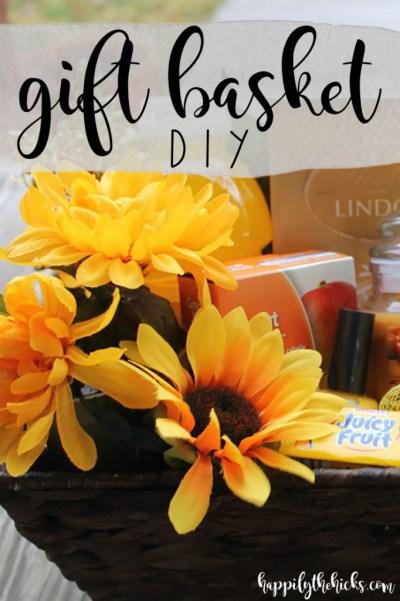 Gift Basket DIY | read more at happilythehicks.com