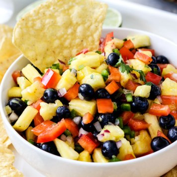 Blueberry Pineapple Salsa from carlsbadcravings.com