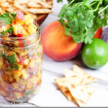 Fresh Peach Salsa from runninginaskirt.com