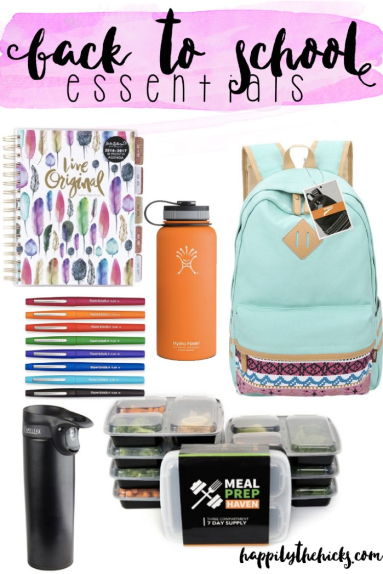 Back to School Essentials | read more at happilythehicks.com