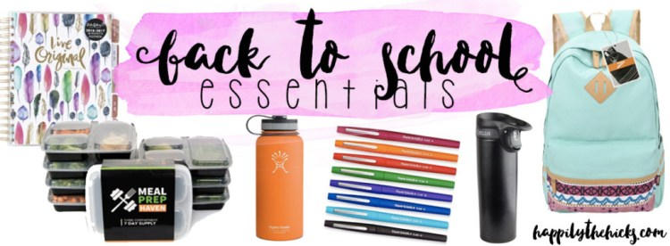 Back to School Essentials | read more at happilythehicks.com