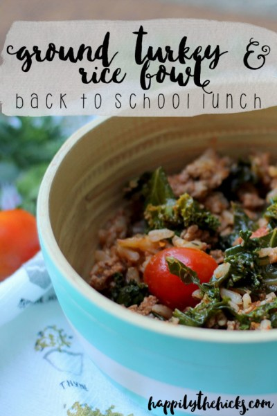 Ground Turkey and Rice Bowl | read more at happilythehicks.com