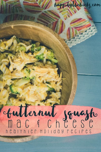 Butternut Squash Mac and Cheese- A Healthy Holiday Recipe | read more at happilythehicks.com