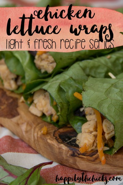 Chicken Lettuce Wrap- Light & Fresh Recipe Series | read more at happilythehicks.com