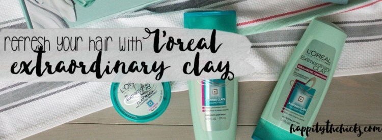 L'Oreal Extraordinary Clay - Refresh your hair with L'Oreal! | read more at happilythehicks.com