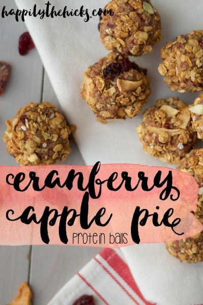 Cranberry Apple Pie Protein Balls | read more at happilythehicks.com
