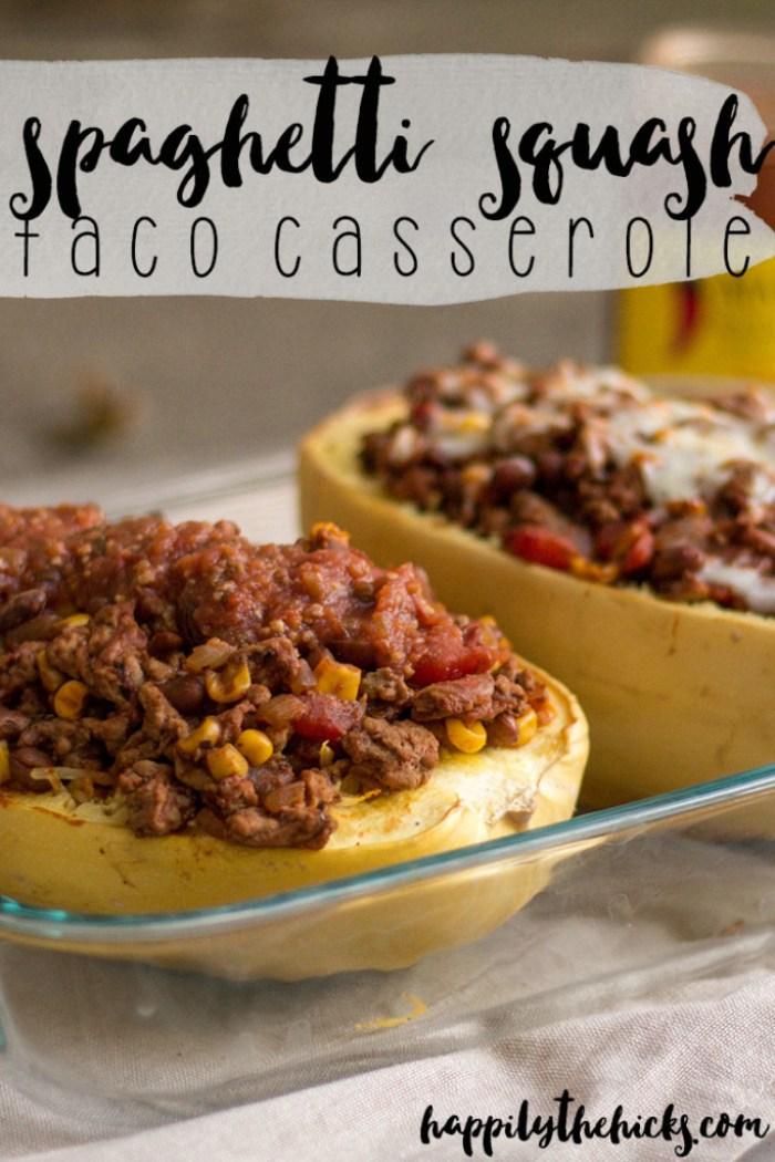 Spaghetti Squash Taco Casserole - Light & Fresh Recipe Series   read more at happilythehicks.com
