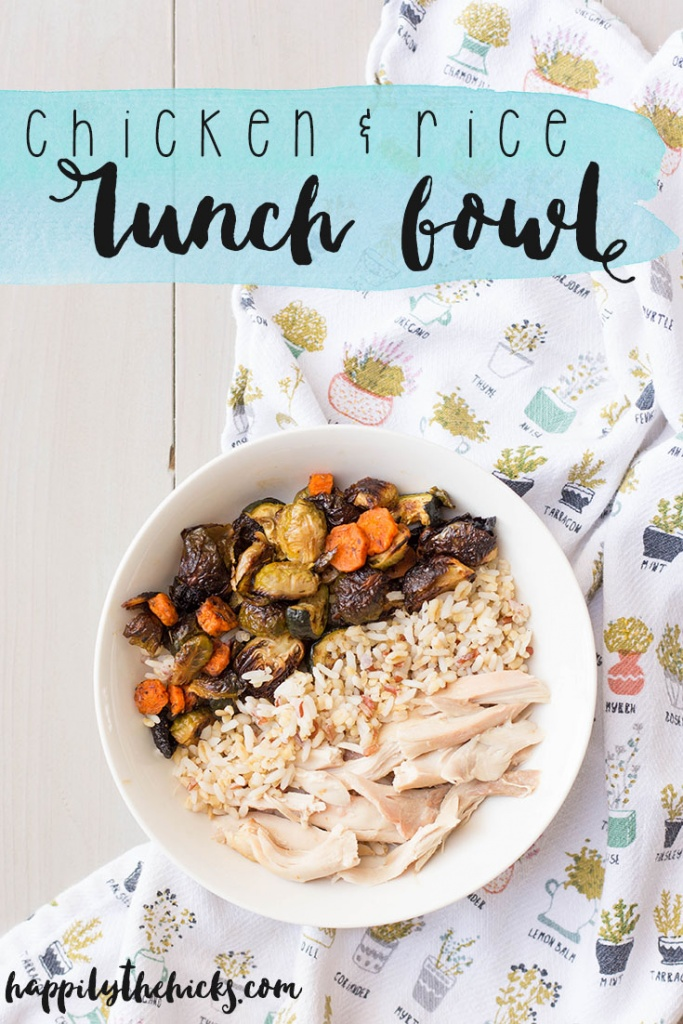 This Chicken & Rice Lunch Bowl is perfect for a healthy meal prepped lunch! | read more at happilythehicks.com