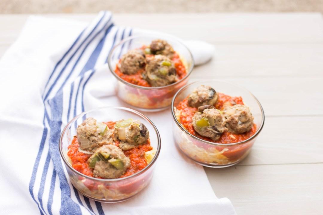 Spaghetti (Squash) and Meatballs