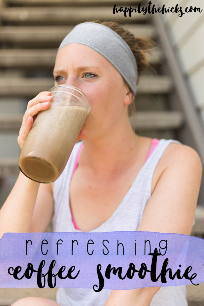 Refreshing coffee smoothie- the perfect drink for a hot summer's day! | read more at happilythehicks.com #ad #CollectiveBias #DunkinCreamers