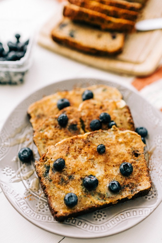 Blueberry Zucchini French Toast | read more at happilythehicks.com