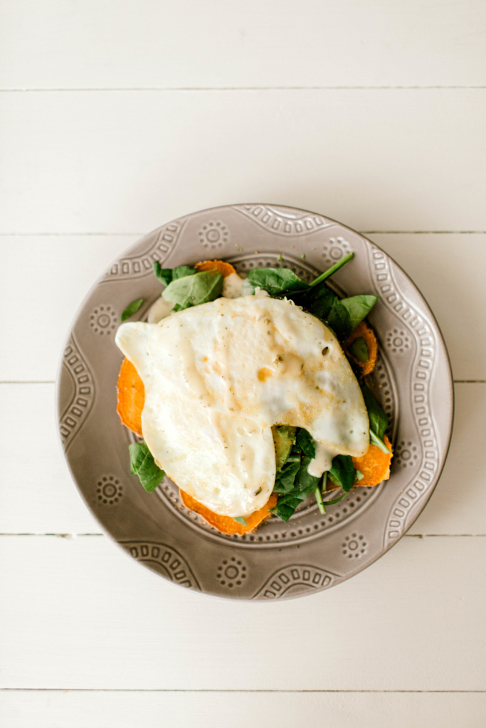 "Sweet Potato Avocado Egg ""Toast"" 