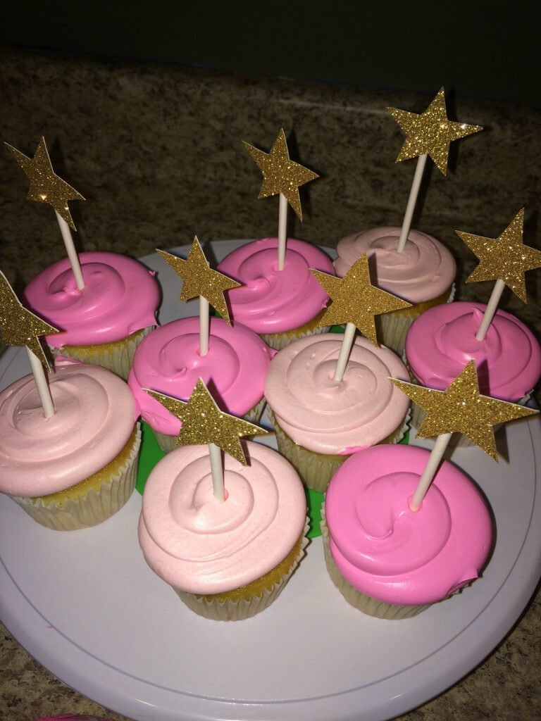 Twinkle Twinkle Little Star First Birthday Cupcakes