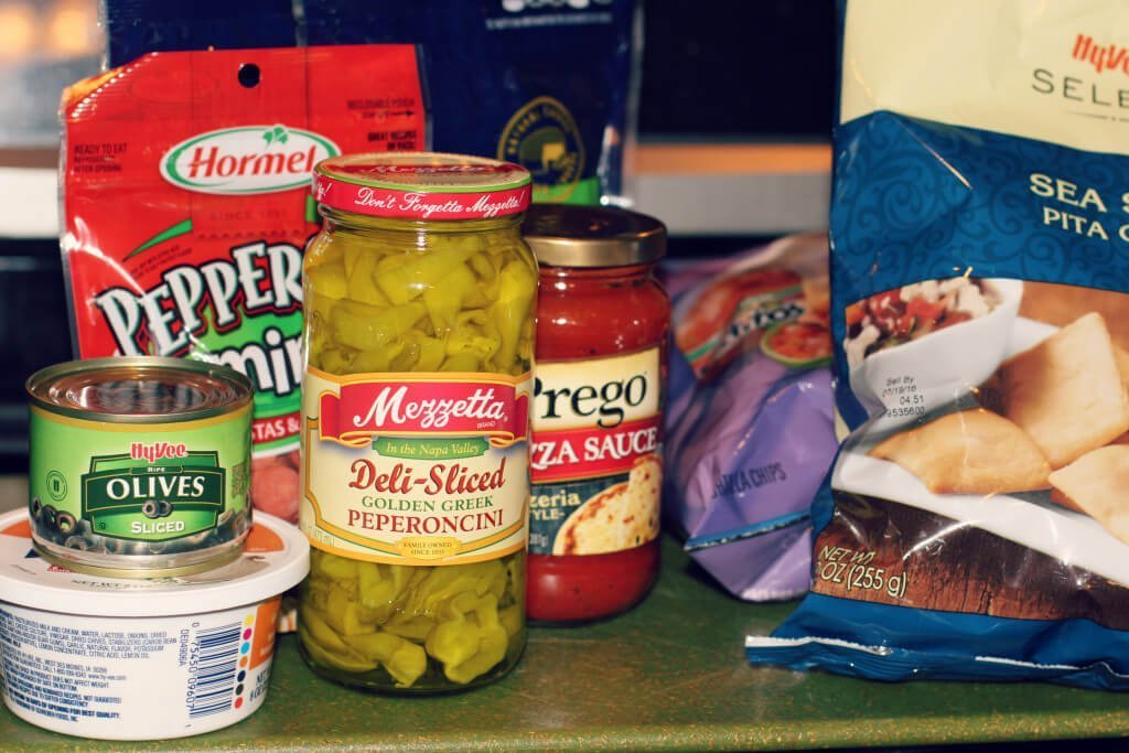 Cheesy Pizza Dip Ingredients