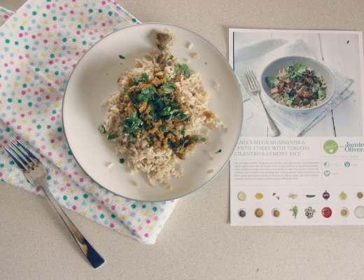 hellofresh Jamie's Mega Mushroom & Lentil Curry