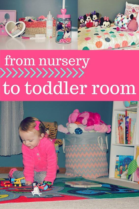 Coral and Grey Toddler Room