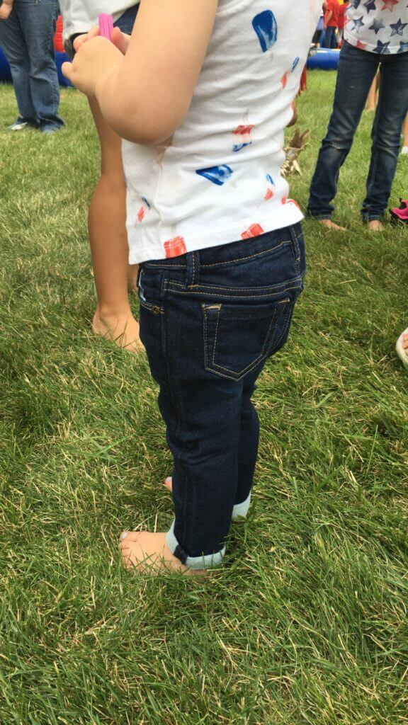 tiny, cuffed jeans. I can't handle it.