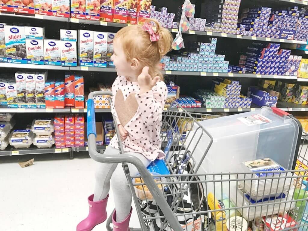 Shopping at Wal Mart