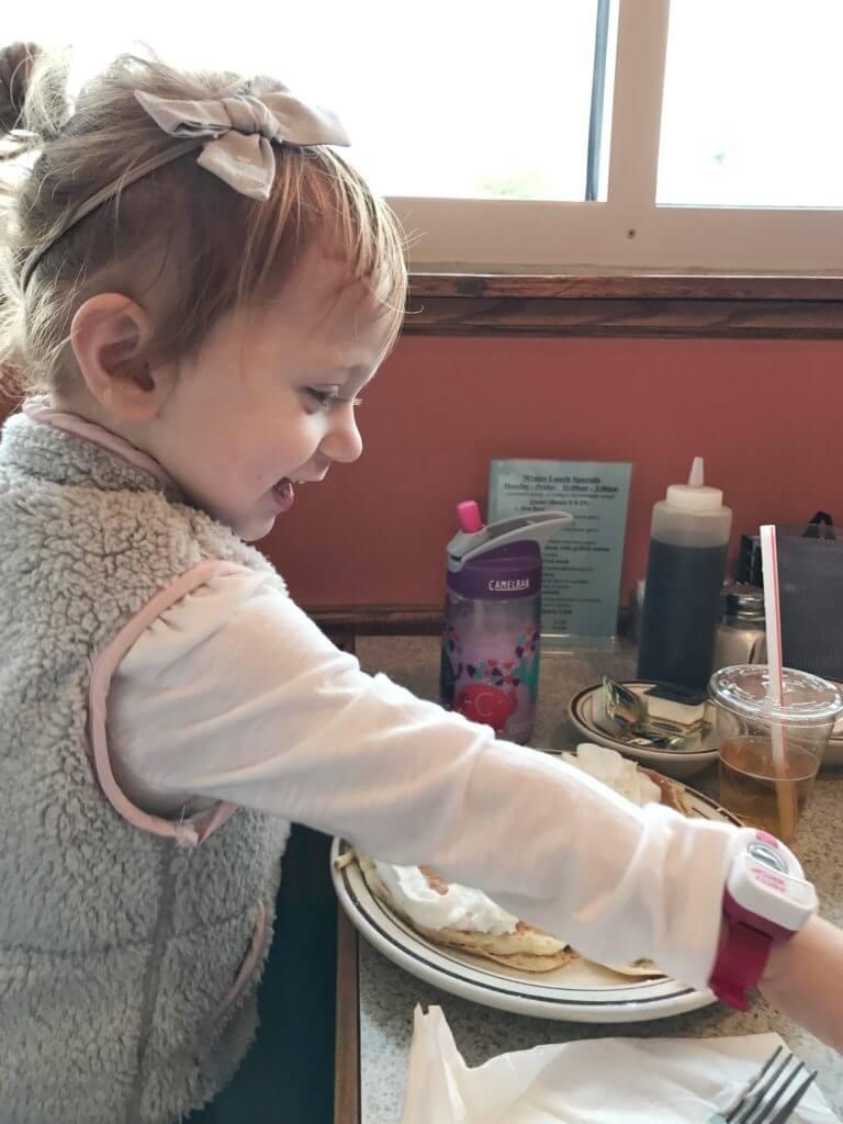 Blaire eating Breakfast