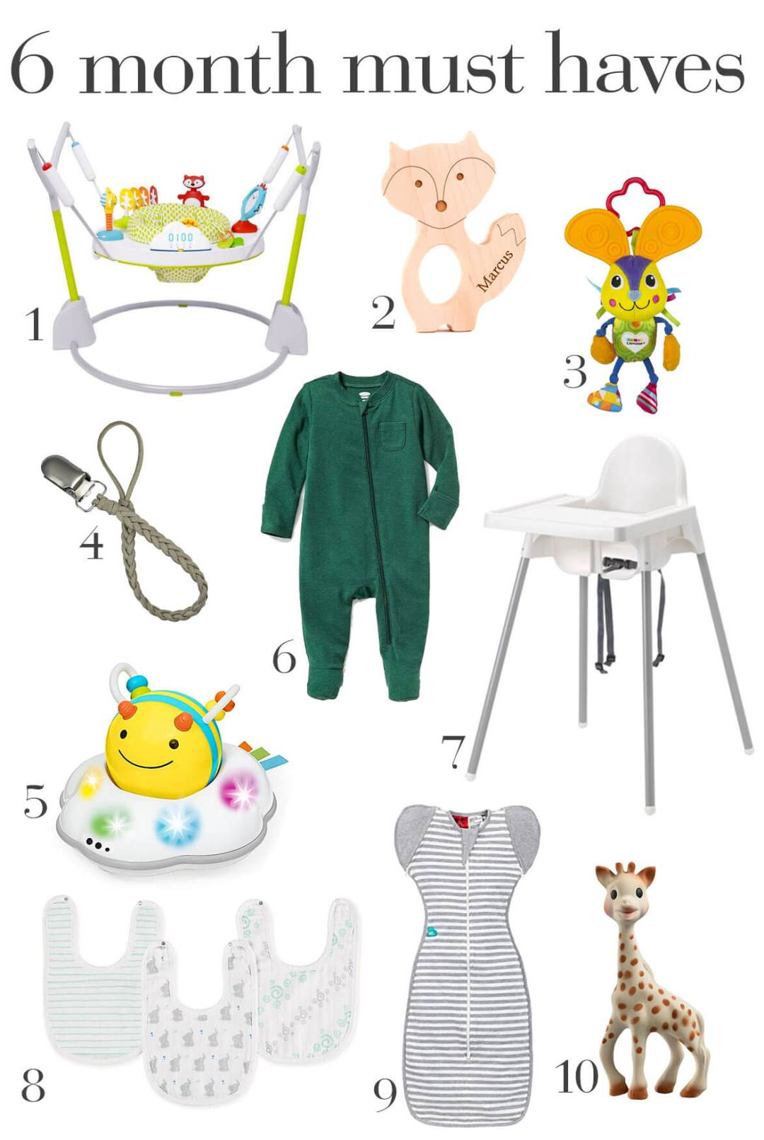 6 Month Baby Must Haves | Happily Trista Blog