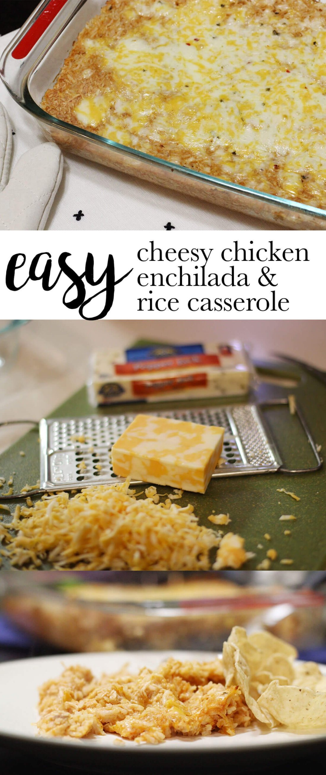 Easy Chessy Chicken Enchilada & Rice Casserole | Shopaholic & a Baby Blog