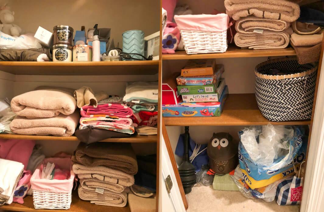 Messy Linen Closet