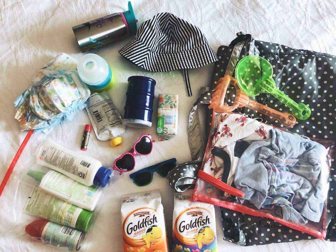 what to pack for the beach with a toddler and an infant