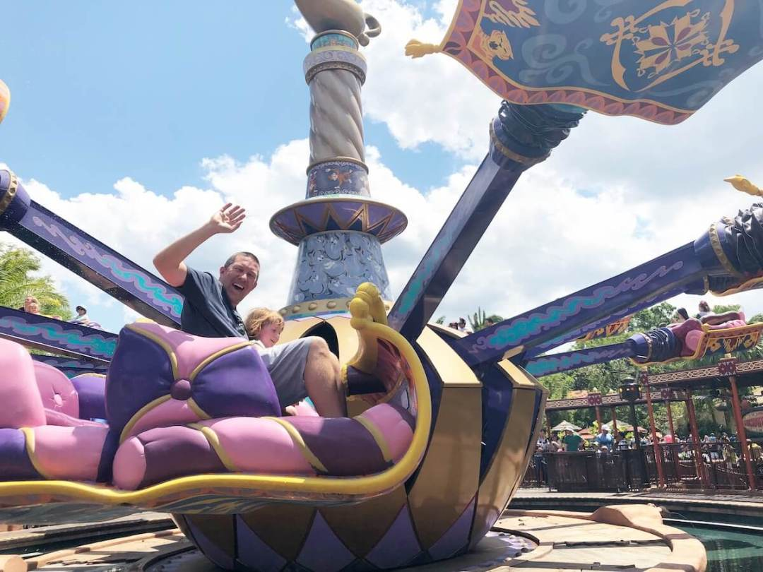 The Magic Carpets of Aladdin ride at Walt Disney World